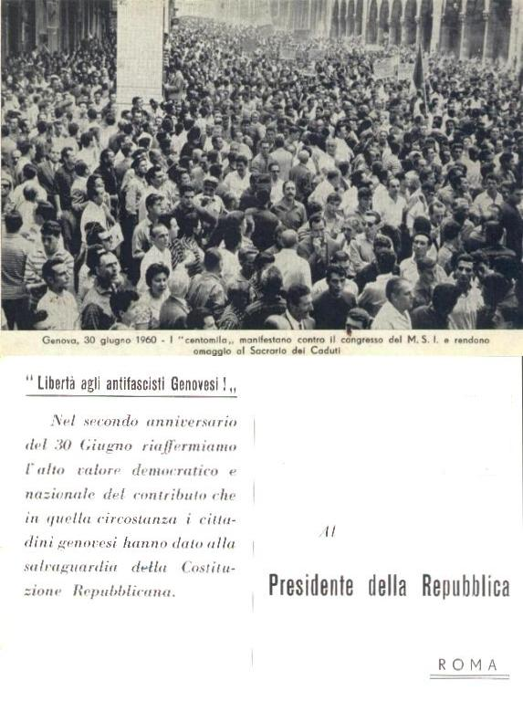 genova 30 giugno 1960